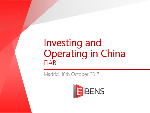 Investing and operating in China